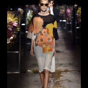 NEW NWT Auth Dries Van Noten Floral Dress